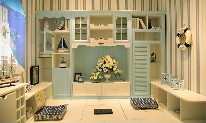 产品类型:榻榻米书房 适用空间:小户型小空间 核心卖点:转角柜门,隐形